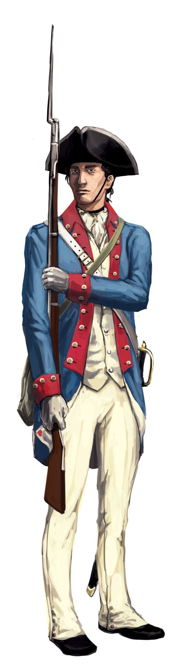 Continental Soldier, American Revolution by Daldbaatar.deviantart.com on @deviantART