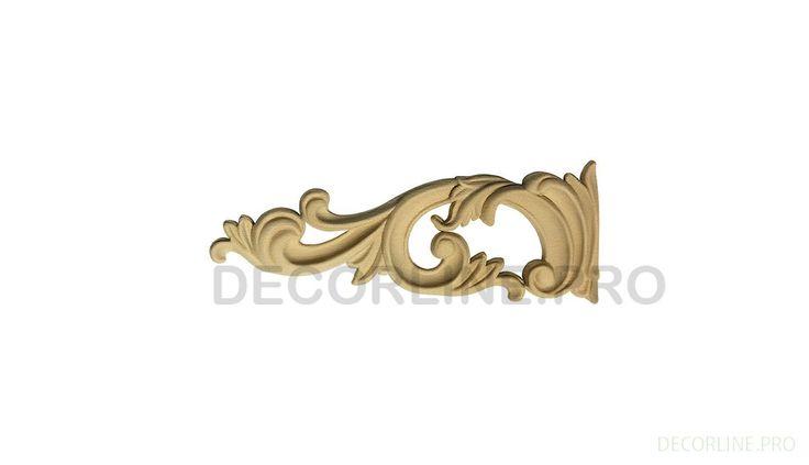 ОРНАМЕНТЫ из древесной пасты OR-52 Размер/Size: 57-155-12. Резной декор из древесной пасты, древесной пульпы, полимера, полиуретана, ППУ, МДФ, прессованный декор, декор из массива, декор из дерева