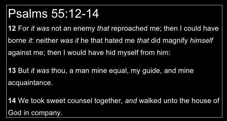 Psalm 41 9