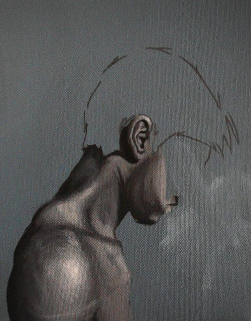 I love this piece because of the body structure and the profile its in. I also like the idea that the face looks incomplete, like it's not really finished yet. I look and this and think, this guy is not really there; he is incomplete.