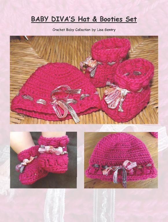 Baby Diva's Hat & Booties Set