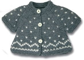 Knitted Baby cardigan no pattern