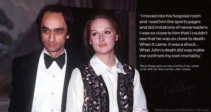 """""""Ich bin in sein Krankenzimmer gezogen, habe ihm die Sportseiten durchgelesen und habe … – Meryl Streep"""