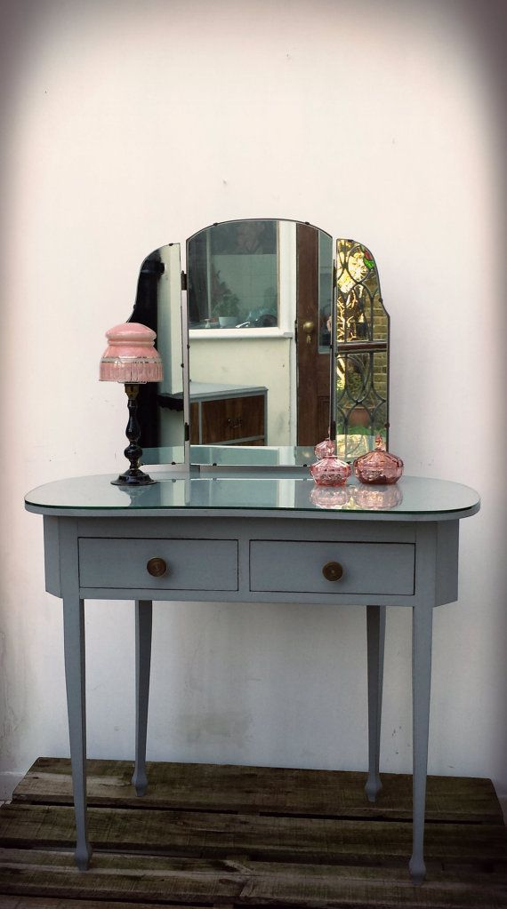 SOLD Art Deco Dressing Table with Mirror SOLD by ArthouseAttic