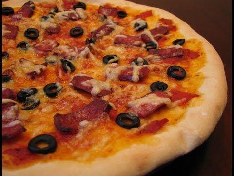 Быстрое тесто для пиццы (с медом) - YouTube