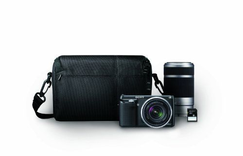 Sony  NEX-F3K/BBDL 16.1 MP Compact System Camera (black) with 18-55mm Lens, 55-200mm Lens, Card and Bag Bundle by Sony. $649.99. From the Manufacturer                 A+  amp;amp;amp;amp;lt;!-- .body2 { font: 100%/1.4 Arial, Helvetica, sans-serif; font-size:12px; background: #42413C; margin: 0; padding: 0; color: #000; background-color: #FFFFFF; } /* ~~ this fixed width container surrounds all other elements ~~ */ .container2 { width: 960px; margin: 0 auto;...