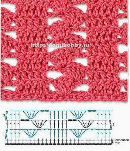 Las mejores puntadas crochet para tu colección * 25 motivos * ~ Patrones para Crochet