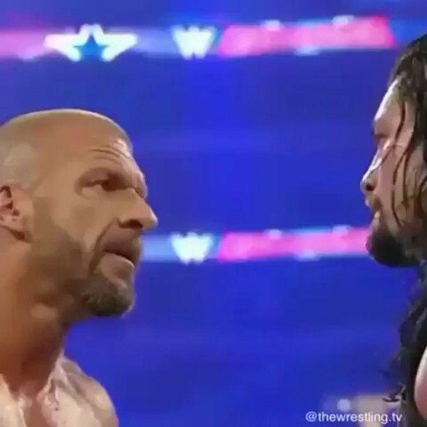 "1,359 Likes, 22 Comments - Roman Reigns™ 🔵 (@romanreignxwwe) on Instagram: ""ROMAN VS HHH - - - -- - - - - , , - , , ,, , , , - - - - . .  #WWE #TNA #WRESTLEMANIA#WWF…"""