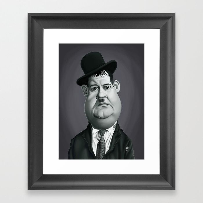 Oliver Hardy art   decor   wall art   inspiration   caricature   home decor   idea   humor   gifts