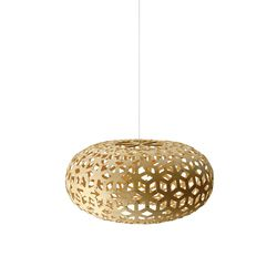 General lighting-Pendant lights in wood-Suspended lights-Snowflake - Bamboo-David Trubridge