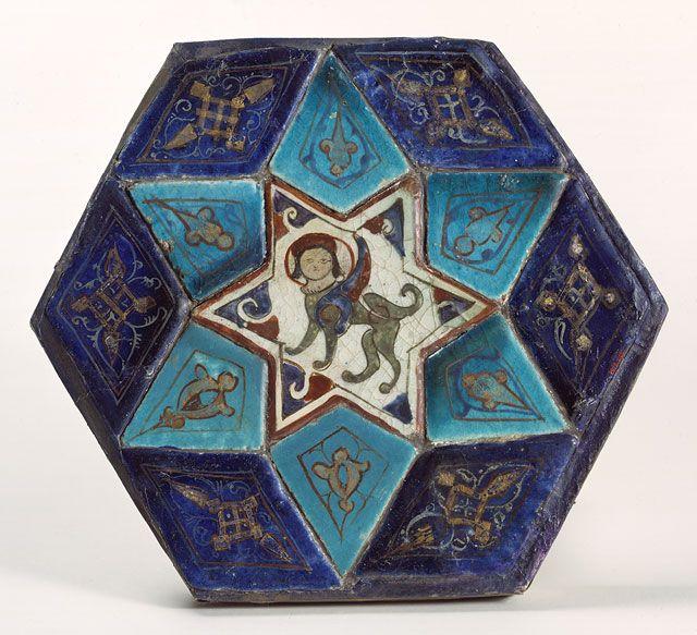 Tile panel with sphinx [Turkey] (1976.245) | Heilbrunn Timeline of Art History | The Metropolitan Museum of Art