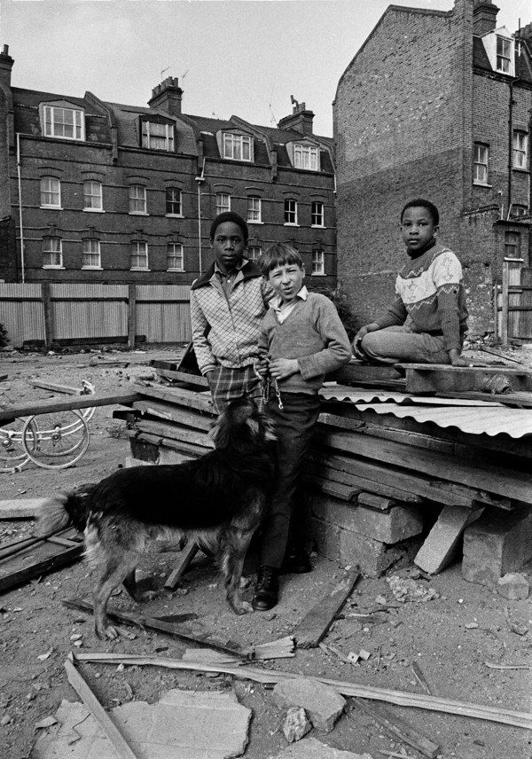 Friends, Brick Lane, East End, London, England, United Kingdom, 1978, photograph by Syd Shelton.