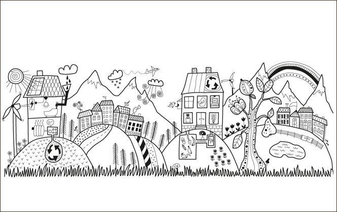 Les 275 meilleures images propos de coloriages sur pinterest animaux pages de coloriage for Dessin ville orientale