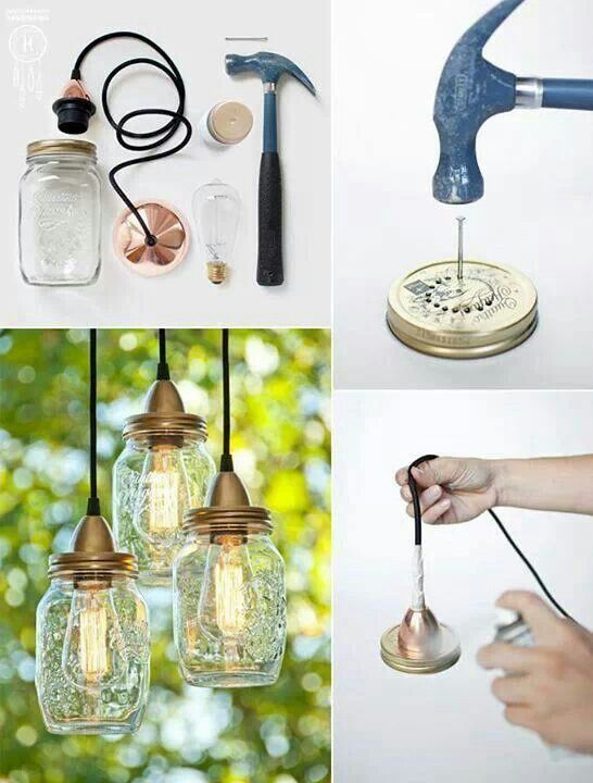 les 25 meilleures id es concernant lampe bocal sur pinterest lustre de pot diy lampe et. Black Bedroom Furniture Sets. Home Design Ideas