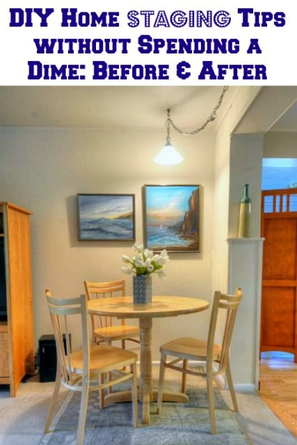 No cost diy home staging tips before and afters also for Cost to stage a house