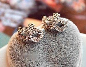 Mask Flower Earring