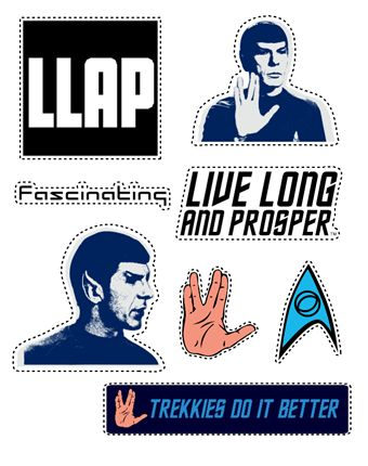 Star trek mr spock sticker sheets exclusively made for shop llap