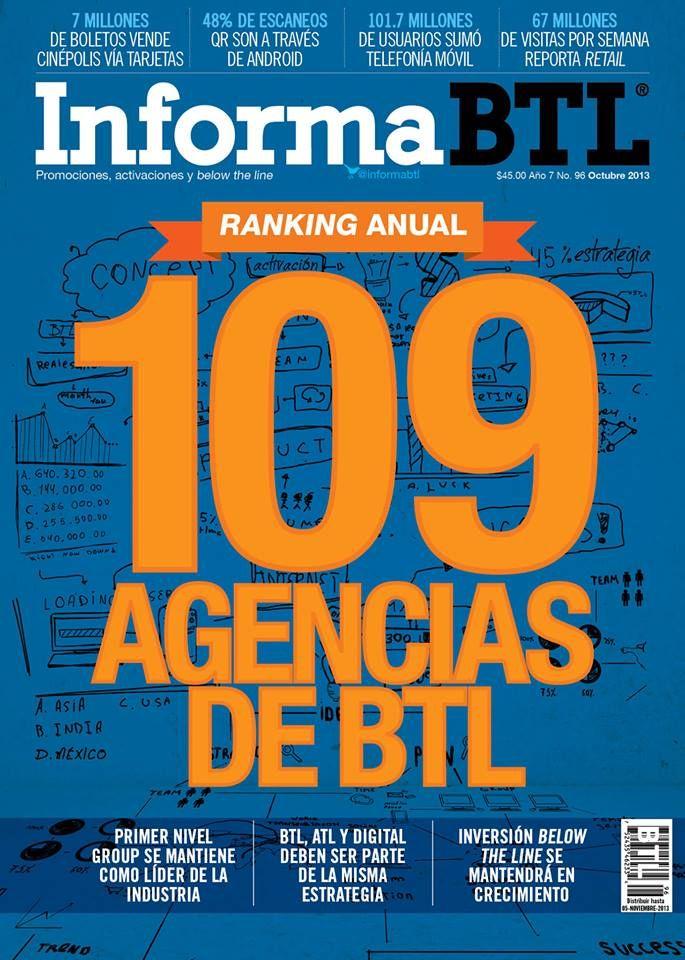 Portada InformaBTL Octubre 2013   Revista InformaBTL: Promociones, Activaciones y Below the Line   Portadas
