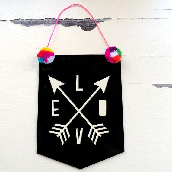 Love  Acrylic Banner Flag by morganandjane on Etsy, $25.00