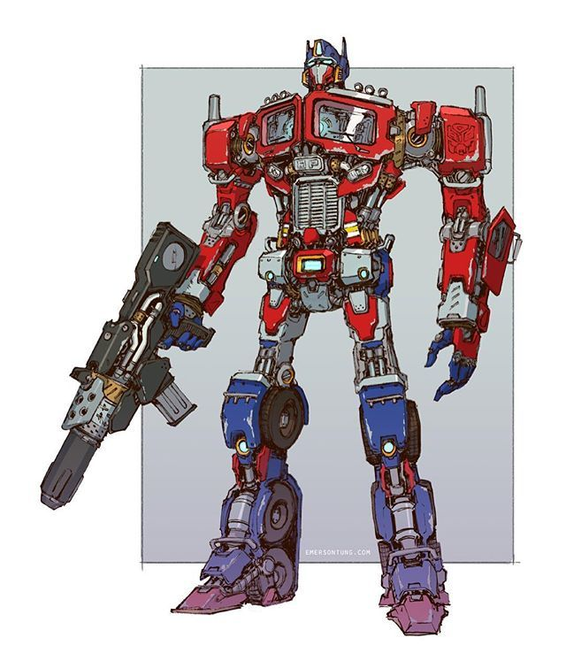 1020 best images about vehicle design mecha on pinterest - Optimus prime dessin ...