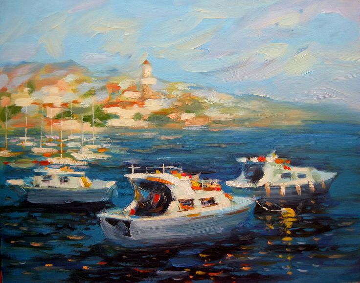 Symi island. Oil, canvas