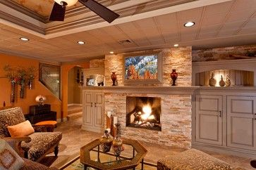 decor ideas for kitchens 1000 ideas about basement fireplace on 17134
