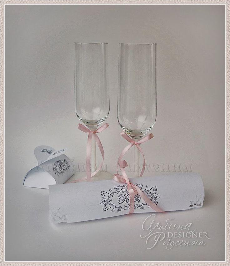 ♥ Приглашения на свадьбу. Стильная свадьба. Сайт дизайнера.: Свитки с вензелем (монограммой) молодожёнов.