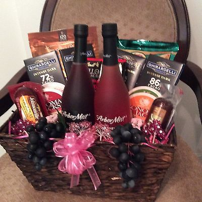 Wine Cheese And Chocolate Gift Basket Chocolate Gifts Basket