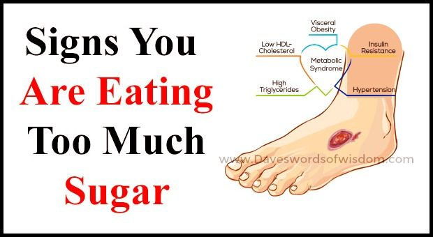 Daveswordsofwisdom Com 5 Signs You Re Eating Too Much Sugar Ate Too Much Lack Of Energy Health