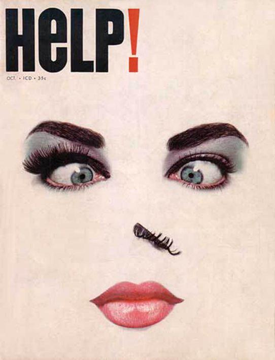 design-is-fine: Harvey Kurtzman, cover design for Help! No. 19, 1963. Source