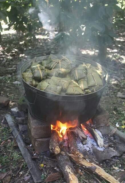 Oaxaca, tamales wrapped in banana leaves, ¡muy typico!