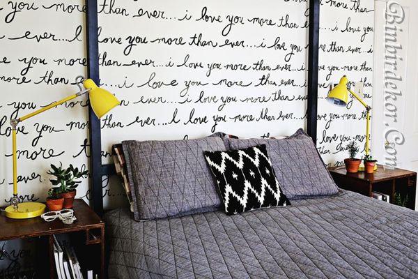 yatak odası dekorsayon örnekleri başucu