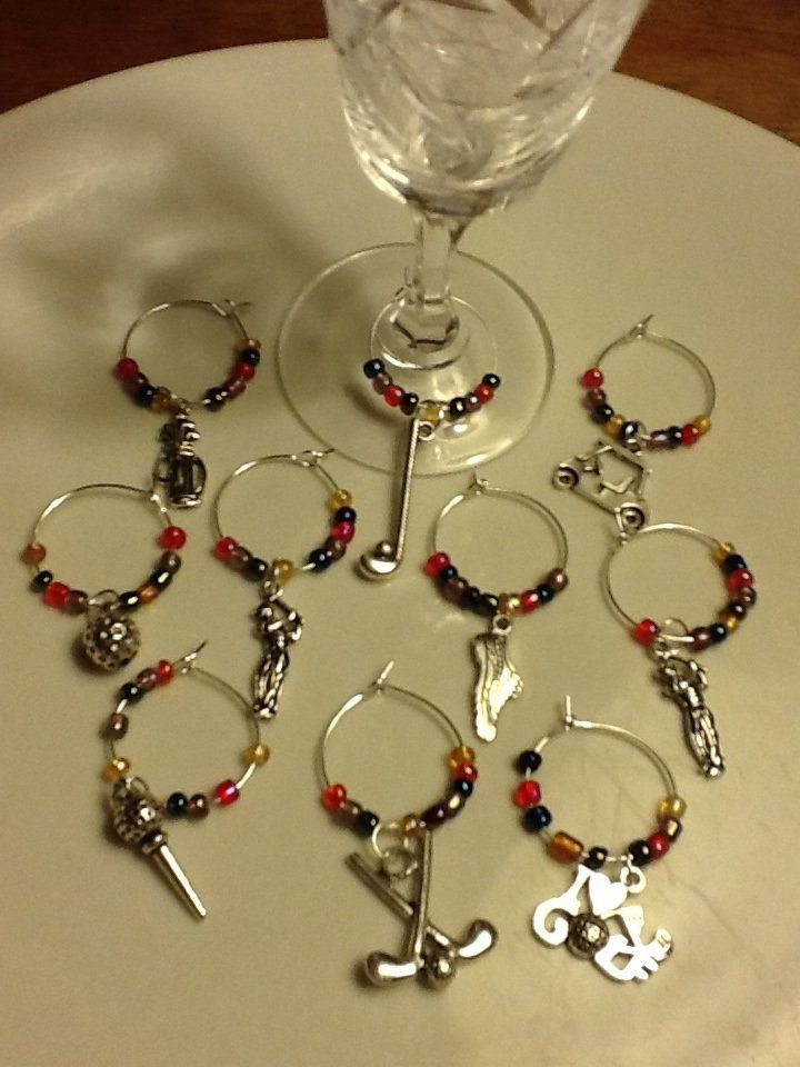 GOLF wine charms, identificateurs de verres à vin, thème du GOLF, amusant, party! Mothers' Day gift, Cadeau entre golfeuses. de la boutique JoannaGemsCreations sur Etsy