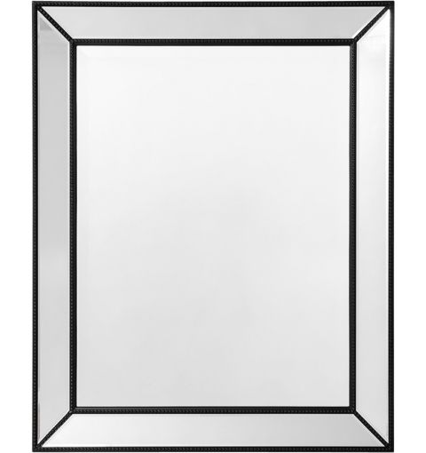 Small Mirror Beaded, Black