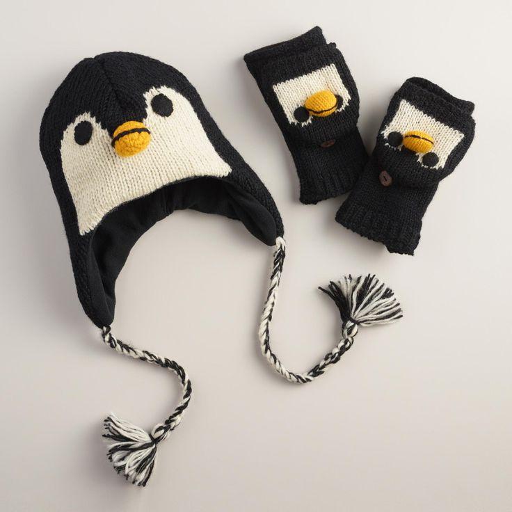 Wool Penguin Gloves or Hat | World Market