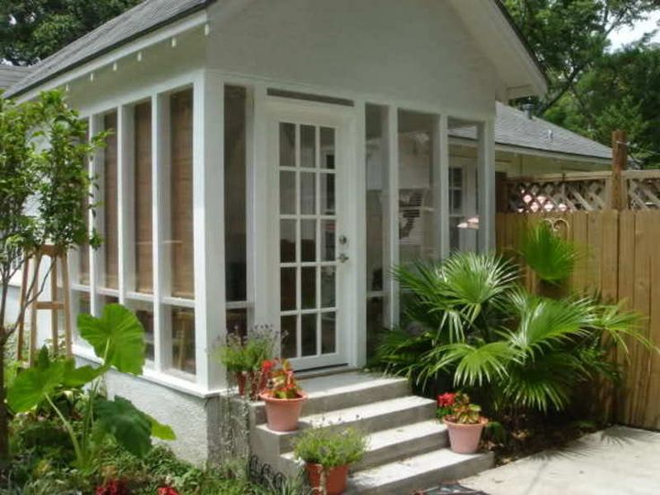 Beautiful Enclosed Front Porch Entry