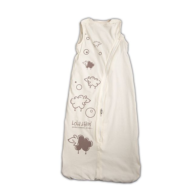 Sleep Solution made from 100% natural fibres  Lola & Ben® is an Organic Cotton Baby Sleeping Bag with removable Merino or Organic Cotton liners suitable for every season - Made here in NZ