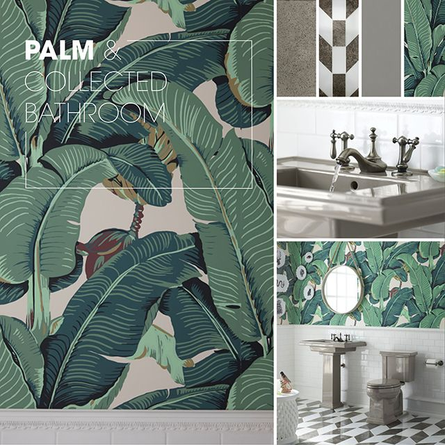 20 best Palm & Collected Bathroom images on Pinterest | Palm beach ...