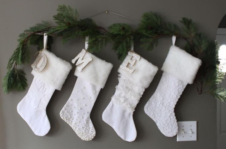 For those who don't have a fireplace and mantel, here are some creative ways to hang your stockings this holiday season.