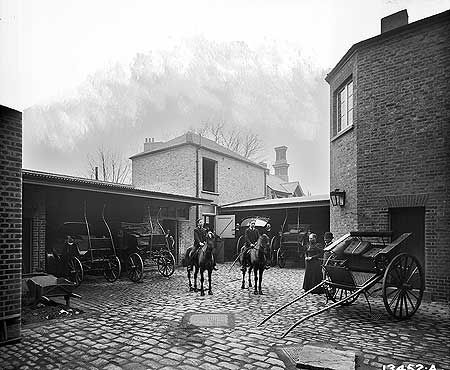 The Gate House Public House stable yard, Highgate, 15 Feb 1896