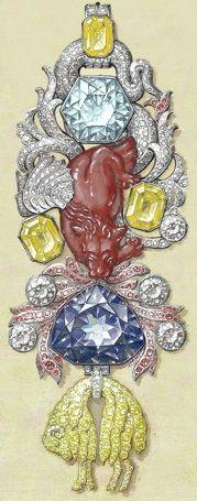 """diamants de la couronne  ordre de la toison d'or   orné du diamant bleu """"hope"""" et spinelle """"cote de bretagne"""""""