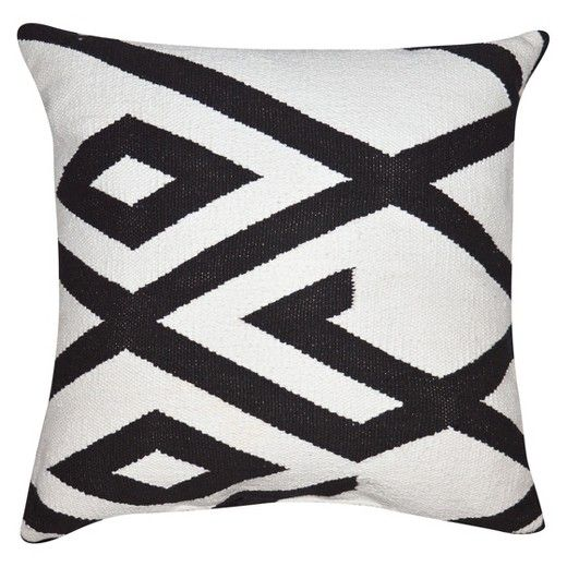 Black and White Oversized Throw Pillow with Tassels - Threshold™ : Target