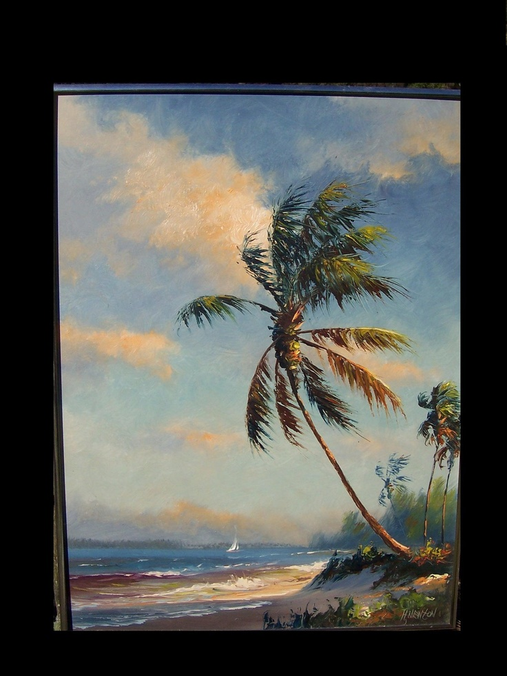 I lov paintings by Harold Newton, one of the original Florida Highwaymen.