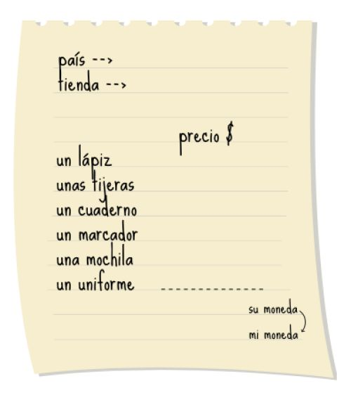 Puedo comparar los precios de útiles escolares. – Communicative Curriculum for Teaching Spanish