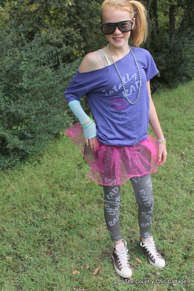 80s Girl Halloween Costume from the Dollar store - The Country ...