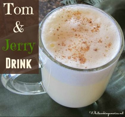 Tom and Jerry Drink 6 eggs, separated and room temperature*  2 1/4 cups superfine sugar, divided** Salt to taste (just a small pinch) 1 teaspoon pure vanilla extract  1 cup powdered milk Boiling water  Rum, brandy, or whiskey (your choice)  Nutmeg