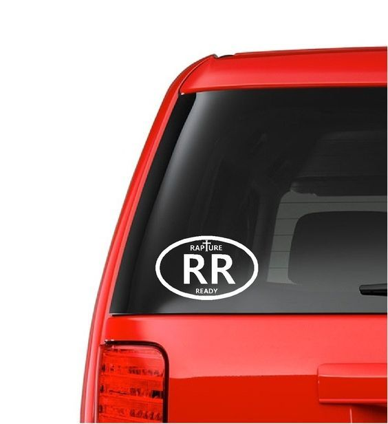 Rapture Ready Decal - Christian Decal - Rapture Sticker - Auto Vinyl Decal - Car Decal - Truck Decal - Window Decal - Window Sticker