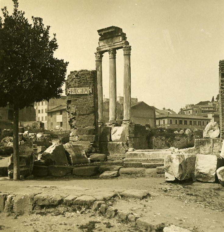Italy Roma Forum Roman Regia old NPG Stereo Photo 1900