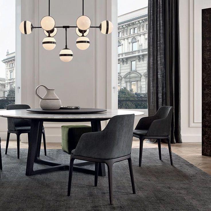 Chaise de salle manger contemporaine en tissu en for Chaise contemporaine design