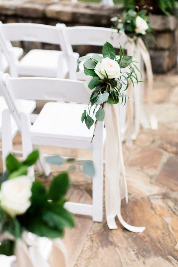 32 Inspirational Outdoor Wedding Aisle Decoration Ideas Page 2 Of 2 Oh Best Day Ever Ceremony Flowers Aisle Wedding Ceremony Chairs Wedding Aisle Outdoor